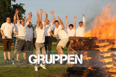 Gruppen Feuerlauf